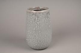 A013W6 Vase en céramique gris D21cm H30cm