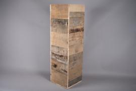 A013WT Sellette en bois 35cm x 35cm H118cm