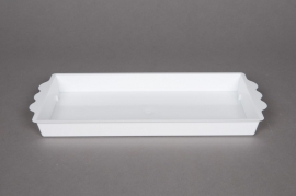 A013X9 Pack of 25 rectangular bowls white 24,5x12,5cm