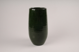 A013XD Vase en céramique vert D15cm H30.5cm