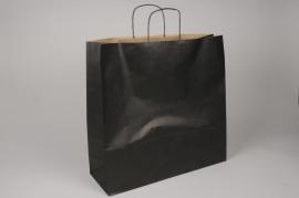 A014AS Bag of 25 black kraft bags 46cm x 16cm H49cm