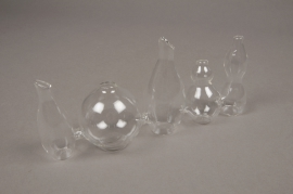 A014H9 Glass vase H10cm