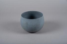 A014JY Cache-pot en métal gris D16cm H11.5cm