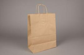 A014O6 Paquet de 50 sacs kraft naturel 24x12cm H31cm