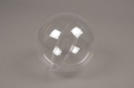 A014OZ Boîte de 12 boules plastiques ouvrables transparentes D14cm