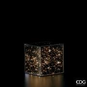 A014QL Cube en verre 100 LED 20x20 H20cm