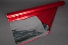 A014QX Rouleau de papier métallisé rouge 0,70X50M