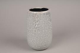 A014W6 Grey ceramic vase D17cm H25cm