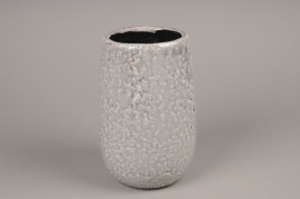 A014W6 Vase en céramique gris D17cm H25cm