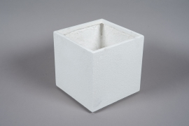 A014W7 Pot en fibre blanc 30x30cm H30.5cm
