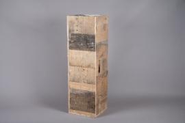 A014WT Sellette en bois 30cm x 30cm H99cm