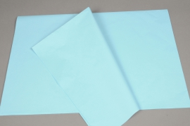 A015AS Paquet de 520 feuilles papier de soie bleu 50 x 75cm