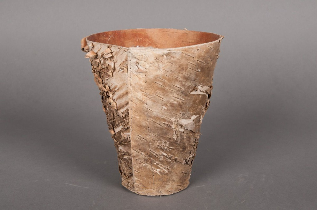 A015DZ Cache-pot en écorce bois D12 H12cm