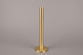 A015E0 Bougeoir métal or H31.5cm