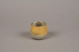 A015G2 Gold glass candle jar D7cm H7cm