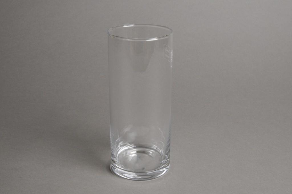 A015I0 Vase en verre cylindre D8.5cm H20cm