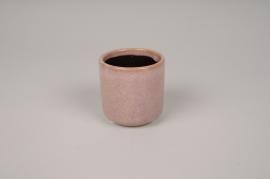 A015J6 Cache-pot en céramique rose D7cm H7cm
