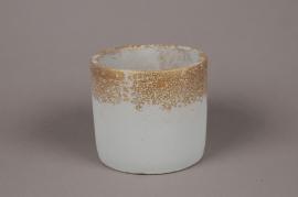 A015OZ Grey ceramic planter D15cm H13cm