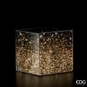 A015QL Cube en verre 150 LED 30x30 H30cm