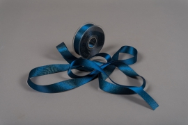 A015UN Blue satin ribbon 25mm x 25m
