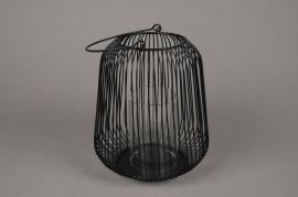 A015UO Black metal light holder D18cm H20cm