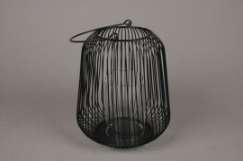 A015UO Black metal light holder D18cm H20cm