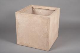 A015VV Sand fiber planter 40x40cm H40cm
