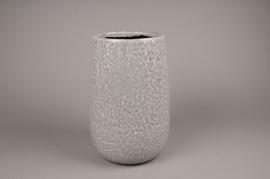 A015W6 Grey ceramic vase D14cm H20cm