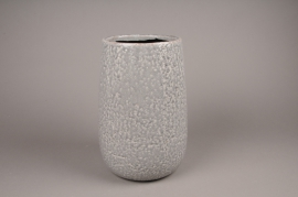A015W6 Vase en céramique gris D14cm H20cm