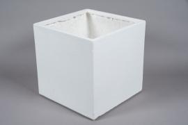 A015W7 Pot en fibre blanc 40x40cm H40.5cm