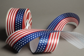 A015ZR USA color bereavement ribbon 66mm x 100m