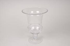 A016A3 Vase médicis en verre D21cm H27cm
