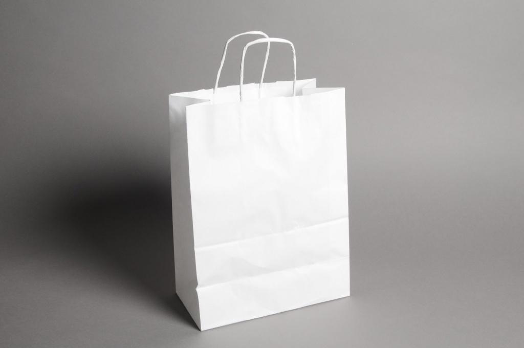 A016AS Bag of 25 white kraft bags 46cm x 16cm H49cm
