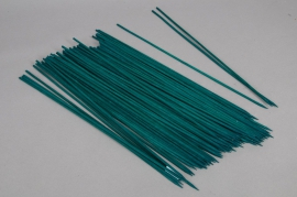A016DN Paquet de 100 tuteurs bambou teinté vert 70cm