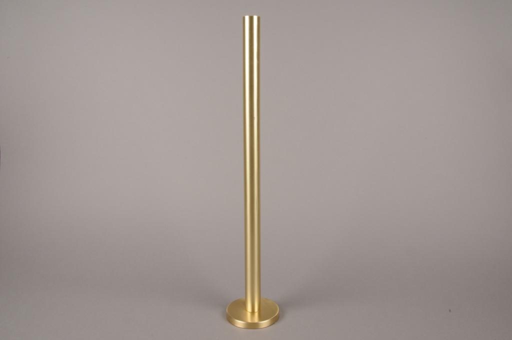 A016E0 Bougeoir métal or H51.5cm