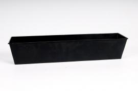 A016GF Jardinière en zinc noir 29x8 H7cm