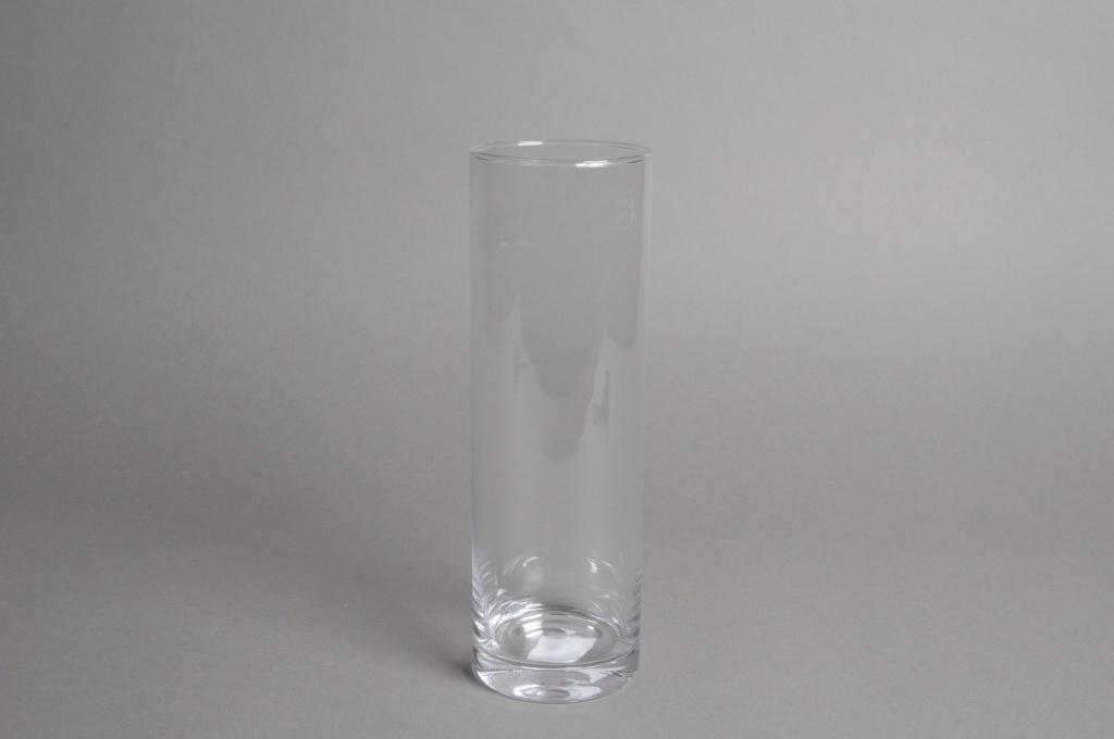 A016I0 Vase glass cylinder D8.5cm H26cm