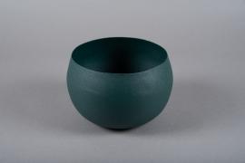 A016JY Green metal planter D20cm H13cm