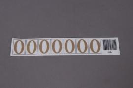 A016K4 Pochette de 50 lettres O 33mm