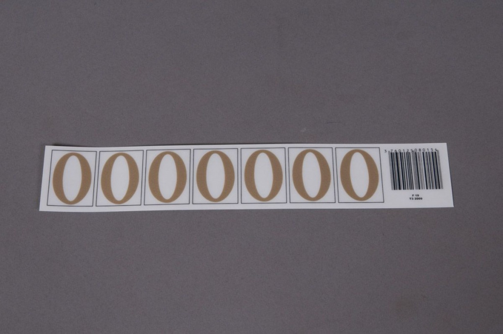 A016K4 Set of 50 letters O 33mm