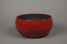 A016LE Coupe en céramique rouge D34cm H17cm