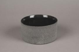A016N8 Coupe en terre cuite gris D16cm H8cm
