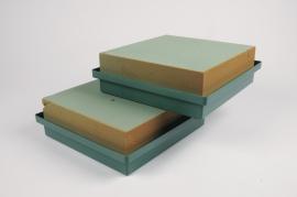 A016T7 Plate of floral foam wettable 23x22cm H9cm