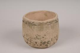 A016U7 Cache-pot en béton gris D14cm H12cm