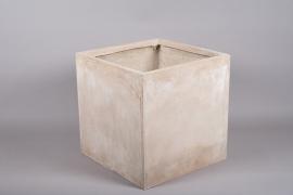 A016VV Sand fiberglass planter 50cm x 50cm H50cm
