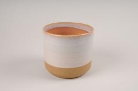 A017BJ Cache-pot en céramique rose D9.5cm H9.5cm