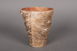 A017DZ Cache-pot en écorce bois D25 H23cm