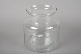 A017G9 Glass vase D19cm H20cm