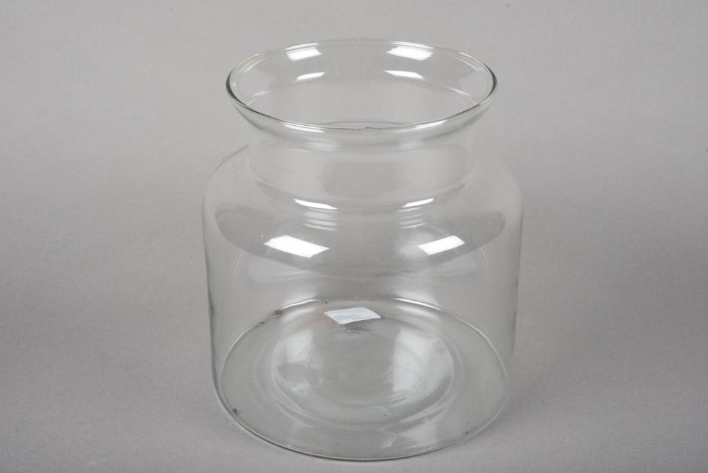 A017G9 Vase bocal en verre D19cm H20cm