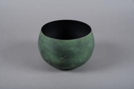 A017JY Cache-pot en métal vert D20cm H13cm